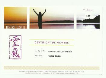Certificat LFDR 2016